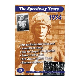 The Speedway Years - 1934